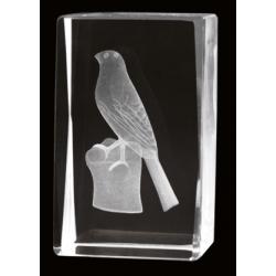 Cristal 3D - Pajaro